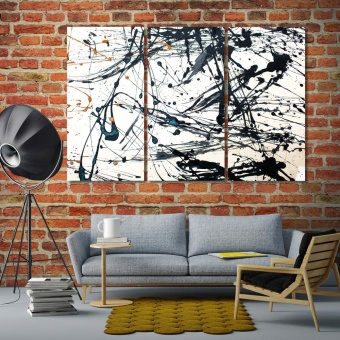 Paint splashes on canvas abstract art modern wall pictures