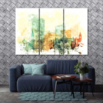 Ljubljana print canvas art, Slovenia wall decor paintings