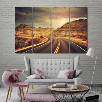 Badlands National Park canvas prints art, South Dakota art wall, USA