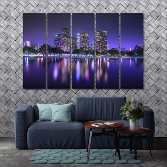 Los Angeles framed artwork for living room, California art for home