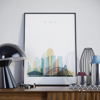 Astana wall art print, ‎Kazakhstan bedroom decor art