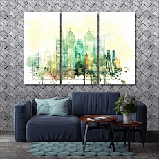 Mumbai art for home, India large wall art for living room