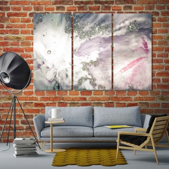 Luxury art in silver sequins style wall art canvas prints