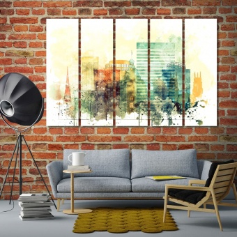 Columbia canvas wall decor, South Carolina artwork for offices