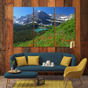 Glacier National Park beautiful print canvas art, Montana wall decor