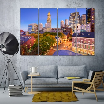 Boston wall decor and home accents, Massachusetts art on wall
