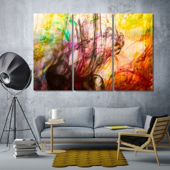 Abstract colorful motion blur wall pictures for home