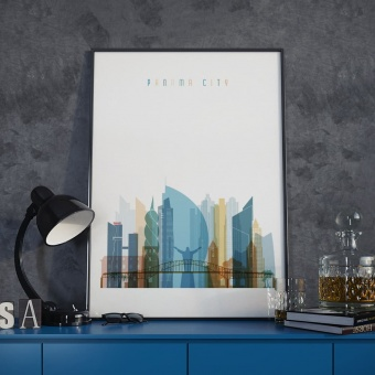 Panama City art print, Panama bedroom wall art decor