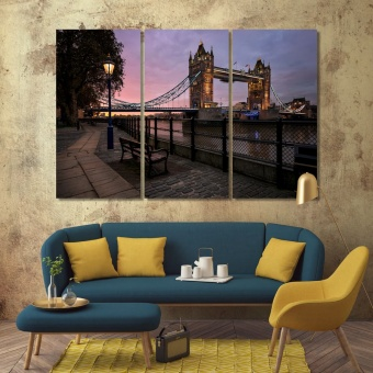 London canvas wall art contemporary, England large wall decoration