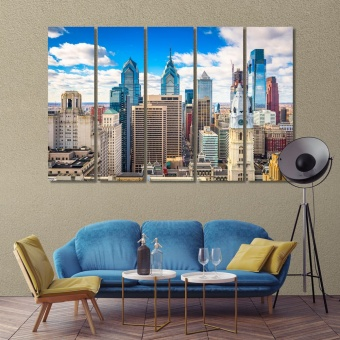 Philadelphia downtown city skyline, Pennsylvania cool art for walls