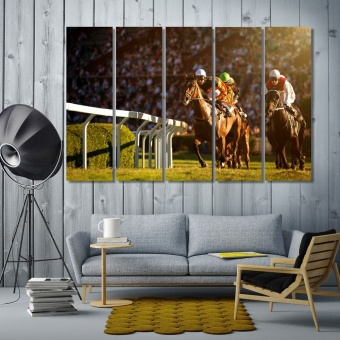 Horse racing wall decorations ideas for living room