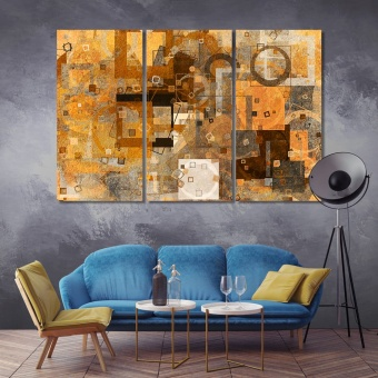 Abstract grunge and rough contemporary wall art decor