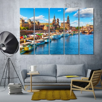 Dresden art prints on canvas, Germany home office wall decor