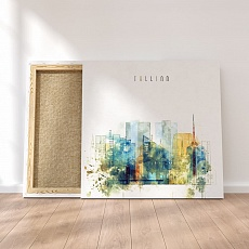Tallinn canvas art prints, Estonia watercolor paintings