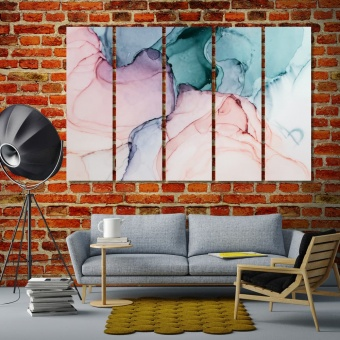 Marble abstract art home interiors wall decor, watercolor painting art