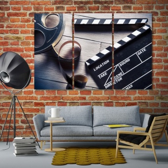 Movie artistic prints on canvas, film wall art for office
