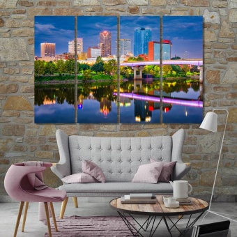 Little Rock artwork for office, Arkansas wall art decoration
