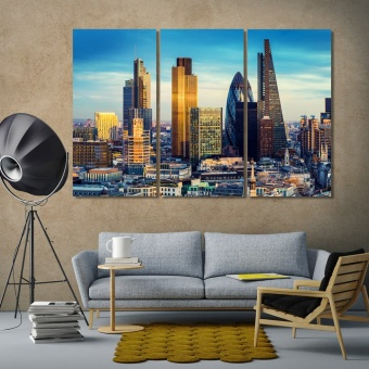 London large wall art for living room, England wall decoration ideas