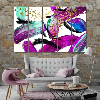 Oil painting abstract modern wall decorations, print canvas art