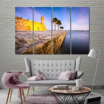 Saint Augustine wall canvas decor, Florida bedroom wall pictures