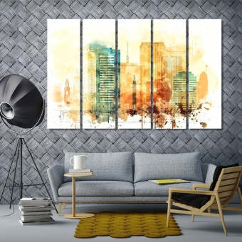 Richmond wall art paintings for living room, Virginia canvas wall