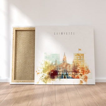 Lafayette modern wall decor ideas, Indiana watercolor art