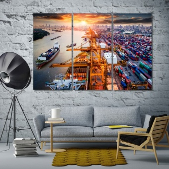 Logistics and transportation wall decorating ideas pictures