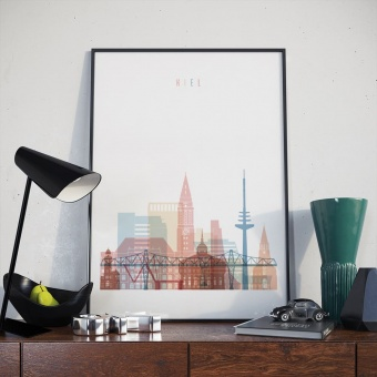 Kiel living room poster, ‎Germany home wall decorations