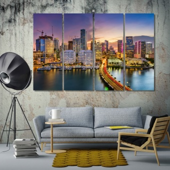 Miami wall art canvas prints