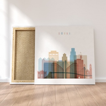 Omaha canvas wall paintings, Nebraska home art decor