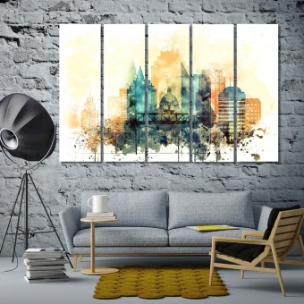 Sacramento wall decor for home, California cool art for walls
