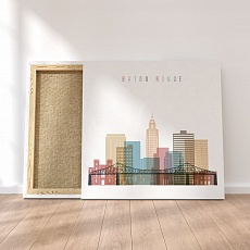 Baton Rouge canvas wall decor