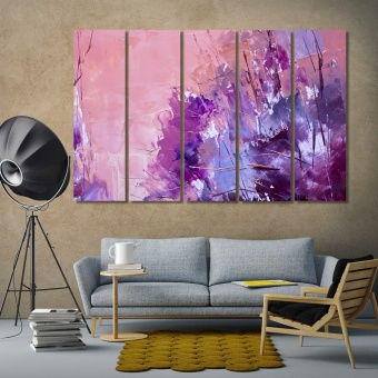 Purple and pink abstract art pictures for home decor