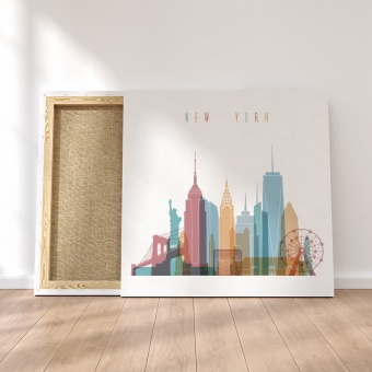 New York City canvas wall decor, United States room wall art