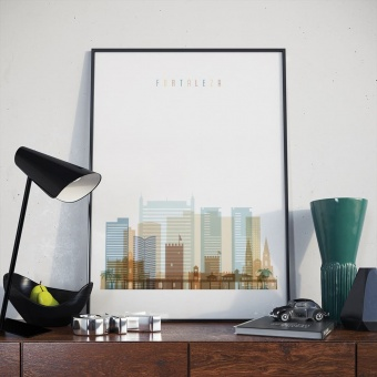Fortaleza wall art print, Brazil cool artwork pictures
