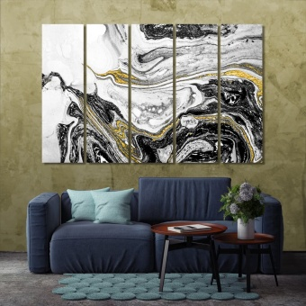 Luxury abstract art wall decor ideas for living room