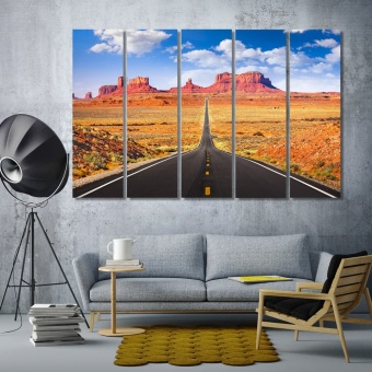 Monument Valley art printing on canvas, Arizona large wall paintings