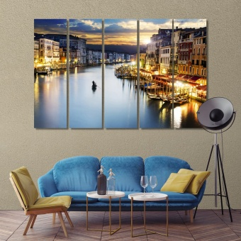 Venice pictures for living room, Italy family wall decor