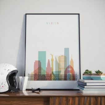 Mexico City art print, Mexico dining room wall pictures