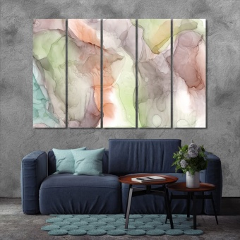 Colorful watercolor abstract painting modern wall decor
