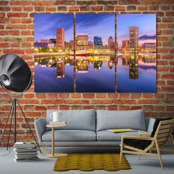 Baltimore wall art canvas prints, Maryland cool wall paintings