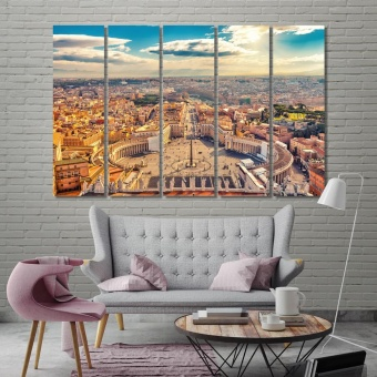 Rome living room wall pictures, Italy wall canvas decor