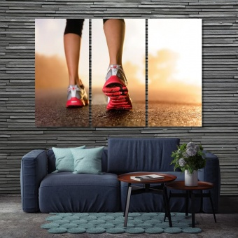 Crossfit artwork for home, run home office wall decor