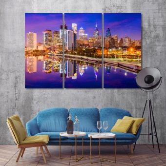 Philadelphia paintings for living room, Pennsylvania canvas wall decor