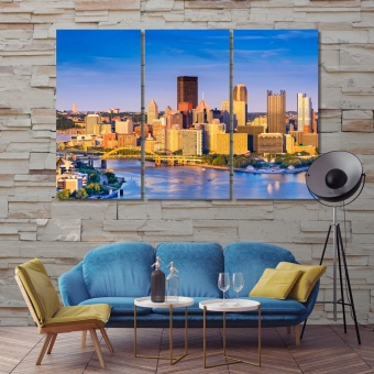 Pittsburgh home wall decorations, Pennsylvania print canvas art