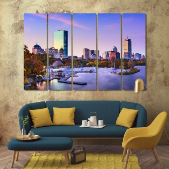 Boston contemporary canvas wall art