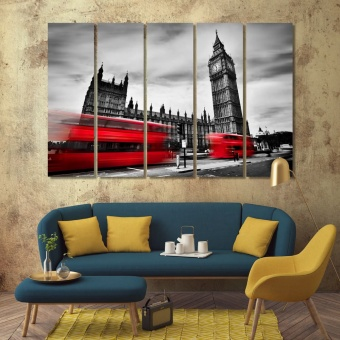 London artistic prints on canvas, ‎England office wall decor