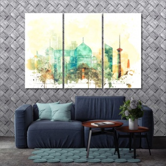 New Delhi art for home, India artistic prints on canvas