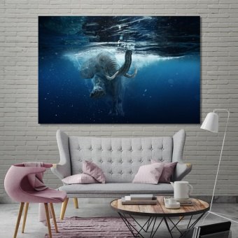Elephant underwater large wall pictures for living room
