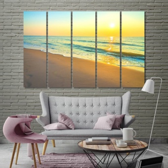 Sea coast wall decorations for bedroom, beach art prints on canvas